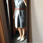 冷えとりファッション夏 麻混のワンピースで学校へ