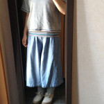 冷えとりファッション夏 だぼっとしているから太って見えるコーディネート^^;