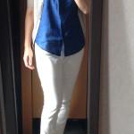 夏の冷えとりファッション ノースリーブも襟つきならキチンと感あり