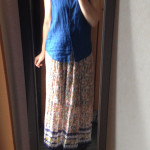 冷えとりファッション夏 マキシ丈のスカートは靴下をまるっと隠してくれる便利アイテム