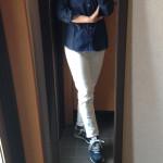 冷えとりファッション春 ニューバランスのスニーカー
