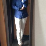 冷えとりファッション春 ユニクロ麻のシャツ