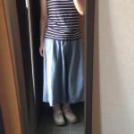 冷えとりファッション春 フレンチスリーブのTシャツ