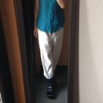 冷えとりファッション夏 もんぺパンツは履くとこんな感じ