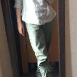 冷えとりファッション春 リネンイージーパンツが履きやすい