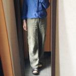 冷えとりファッション梅雨 肌寒い日の長袖リネンシャツ
