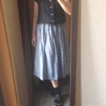 冷えとりファッション夏 リネン混の涼し気なスカート