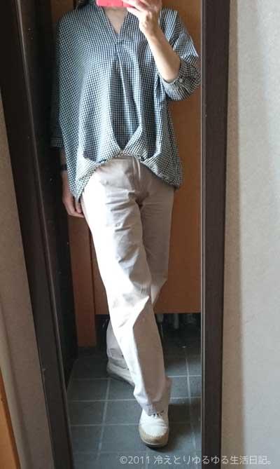 冷えとりファッション春 大活躍のスキッパーシャツ